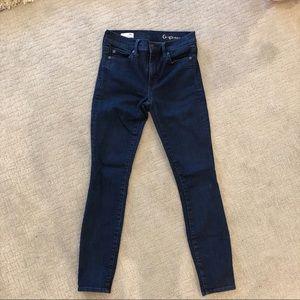 Gap True Skinny Dark Wash Jeans Size 25S